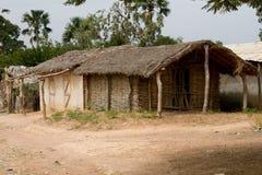 小屋在Dindefelo 图库摄影