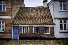小屋在Ribe,丹麦 免版税库存图片