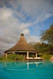 小屋池游泳 库存照片