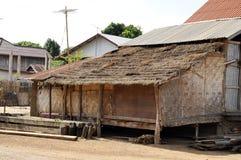 小屋泰国国家(地区)竹子城镇 免版税库存图片