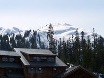 小屋滑雪 库存照片