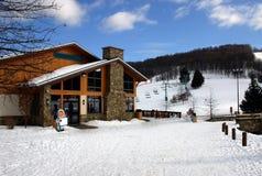 小屋滑雪 图库摄影
