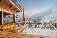 小屋餐馆滑雪 库存图片