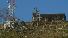 小山上面的被放弃的地方房子,莫尔斯比 股票录像