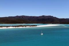 小山入口, Whitsunday海岛,昆士兰,澳大利亚一张鸟瞰图  免版税库存照片