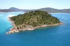 小山入口-鸟瞰图, Whitsunday海岛 免版税库存照片