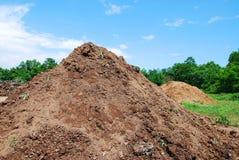 小山土壤 免版税库存图片