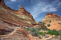 小山土狼南形成的砂岩 免版税库存照片