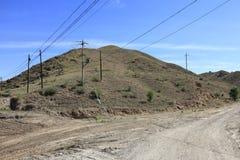 小山在包头市,多孔黏土rgb的郊区 免版税库存照片