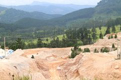 小山在斯里兰卡 免版税图库摄影
