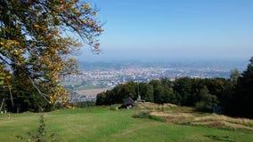 小山在斯洛文尼亚叫Pohorje 库存照片