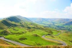 小山在高峰区英国 库存照片