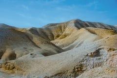 小山在Judean沙漠 以色列masada 免版税库存图片