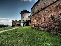 小山城堡, Brasov,罗马尼亚 免版税图库摄影