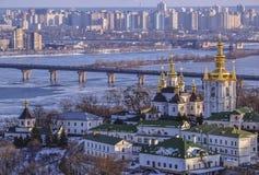 小山基辅lavra修道院pechersk 免版税库存图片