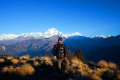 小山尼泊尔poon 免版税图库摄影