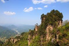 小山山顶在连队mansan山的 库存图片