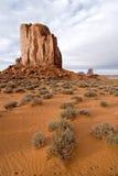 小山沙漠纪念碑谷 免版税库存图片