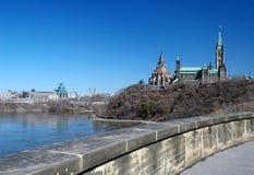 小山渥太华议会 免版税图库摄影