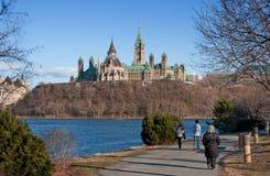 小山渥太华议会 免版税库存照片