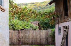 小山的一个农村看法 图库摄影