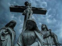 小山的公墓 免版税库存照片
