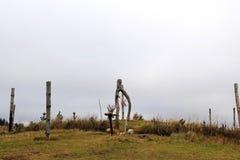 小山的地方一种异教的仪式的 免版税库存照片