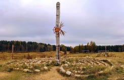 小山的地方一种异教的仪式的 免版税图库摄影