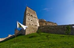 小山的堡垒 库存照片