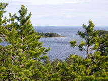 从小山的拉多加湖 库存图片