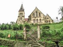 小山的教会-圣安德鲁斯教会大吉岭 图库摄影