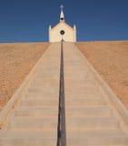 小山的教会 库存照片
