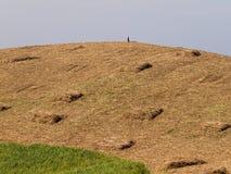 小山的独来独往的人 免版税图库摄影