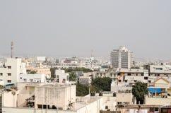 鸟瞰图,海得拉巴,印度 库存照片