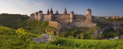 小山的老堡垒 库存图片