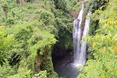 从小山的顶端看见瀑布 图库摄影