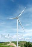 小山的风力场 免版税库存照片