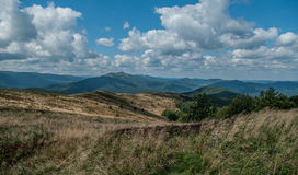 从小山的风景视图 图库摄影