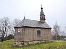 小山的,立陶宛老教堂 库存照片