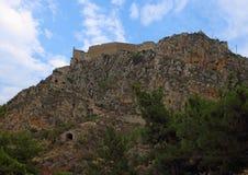 小山的Palamidi堡垒, Nafplion,希腊 免版税库存图片