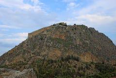 小山的Palamidi堡垒, Nafplion,希腊 免版税库存照片