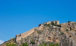 小山的Palamidi堡垒, Nafplion 免版税库存图片