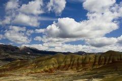 小山被绘的俄勒冈 图库摄影