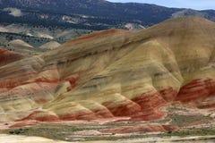 小山被绘的俄勒冈 库存图片