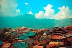 小山部落村庄在泰国 免版税库存图片