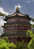 小山长寿宫殿夏天塔 免版税库存图片
