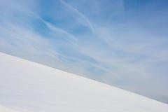 小山雪 免版税图库摄影