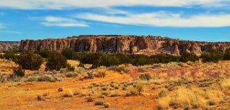 小山顶村庄在新墨西哥 免版税库存照片