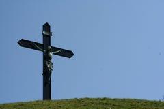 小山顶耶稣 免版税图库摄影