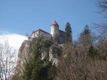 小山顶面城堡 免版税库存图片